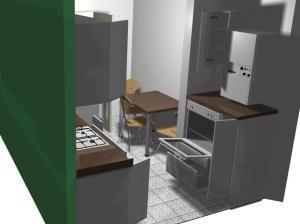 Proiect bucătărie mică la comandă Norvinia nr.152