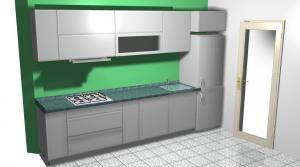 Proiect bucătărie mică la comandă Norvinia nr.150
