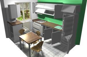 Proiect bucătărie mică la comandă Norvinia nr.154