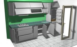 Proiect bucătărie mică la comandă Norvinia nr.151