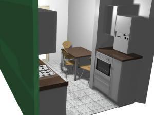 Proiect bucătărie mică la comandă Norvinia nr.153