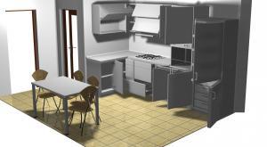 Proiect bucătărie mică la comandă Norvinia nr.175