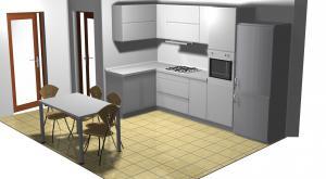 Proiect bucătărie mică la comandă Norvinia nr.176