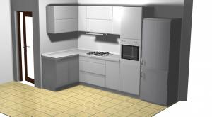 Proiect bucătărie mică la comandă Norvinia nr.170