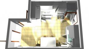 Proiect bucătărie mică la comandă Norvinia nr.173