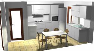 Proiect bucătărie mică la comandă Norvinia nr.178