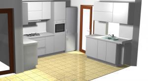 Proiect bucătărie mică la comandă Norvinia nr.171