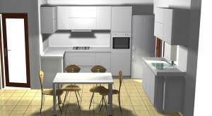 Proiect bucătărie mică la comandă Norvinia nr.172