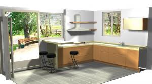 Proiect bucătărie la comandă Norvinia nr.180