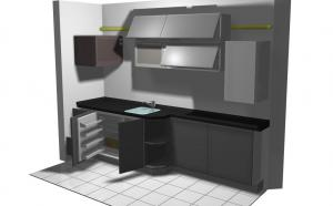 Proiect bucătărie mică la comandă Norvinia nr.206
