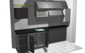 Proiect bucătărie mică la comandă Norvinia nr.201