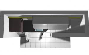 Proiect bucătărie mică la comandă Norvinia nr.204