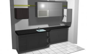 Proiect bucătărie mică la comandă Norvinia nr.202