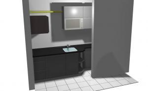 Proiect bucătărie mică la comandă Norvinia nr.203