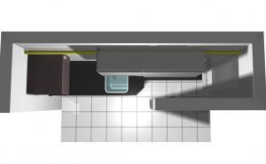 Proiect bucătărie mică la comandă Norvinia nr.205