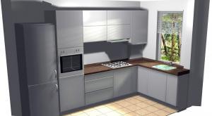 Proiect bucătărie mică la comandă Norvinia nr.210