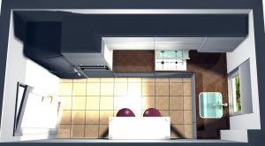 Proiect bucătărie mică la comandă Norvinia nr.214