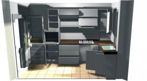 Proiect bucătărie mică la comandă Norvinia nr.213