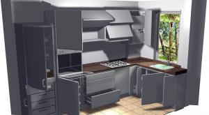 Proiect bucătărie mică la comandă Norvinia nr.211