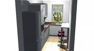 Proiect bucătărie mică la comandă Norvinia nr.216