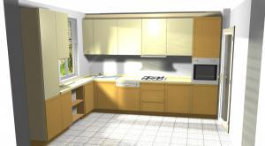 Proiect bucătărie mică la comandă Norvinia nr.262
