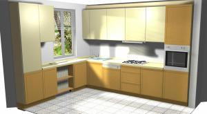 Proiect bucătărie mică la comandă Norvinia nr.260