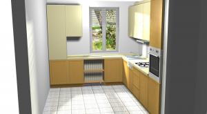 Proiect bucătărie mică la comandă Norvinia nr.263