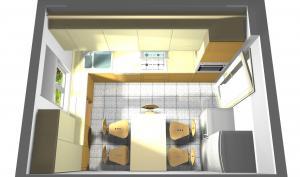 Proiect bucătărie mică la comandă Norvinia nr.261