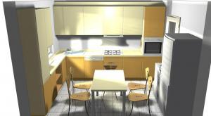Proiect bucătărie mică la comandă Norvinia nr.270