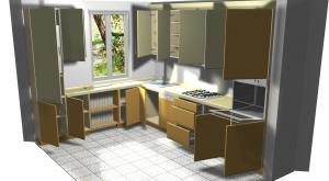 Proiect bucătărie mică la comandă Norvinia nr.274