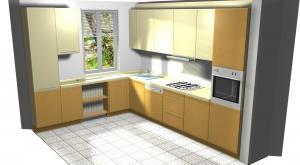 Proiect bucătărie mică la comandă Norvinia nr.275