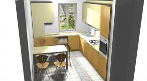 Proiect bucătărie mică la comandă Norvinia nr.271