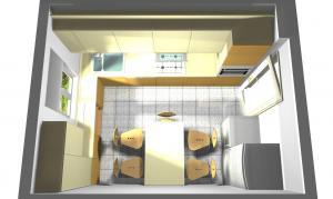 Proiect bucătărie mică la comandă Norvinia nr.273