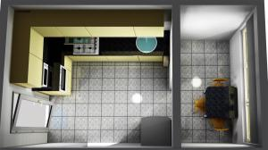 Proiect bucătărie mică la comandă Norvinia nr.374