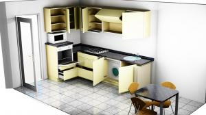 Proiect bucătărie mică la comandă Norvinia nr.371