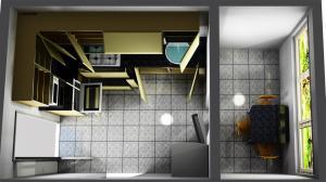 Proiect bucătărie mică la comandă Norvinia nr.373