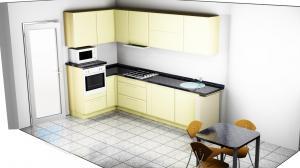 Proiect bucătărie mică la comandă Norvinia nr.370