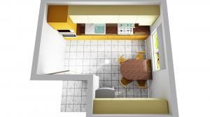 Proiect bucătărie mică la comandă Norvinia nr.474