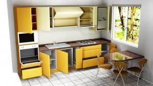Proiect bucătărie mică la comandă Norvinia nr.471