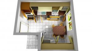 Proiect bucătărie mică la comandă Norvinia nr.475