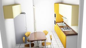 Proiect bucătărie mică la comandă Norvinia nr.473