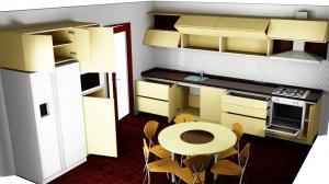 Proiect bucătărie la comandă Norvinia nr.521