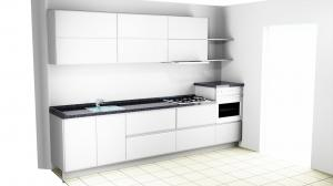 Proiect bucătărie mică la comandă Norvinia nr.552