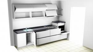Proiect bucătărie mică la comandă Norvinia nr.553