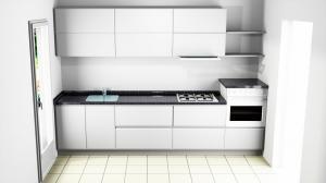 Proiect bucătărie mică la comandă Norvinia nr.550