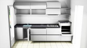 Proiect bucătărie mică la comandă Norvinia nr.551