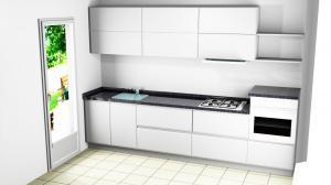 Proiect bucătărie mică la comandă Norvinia nr.554
