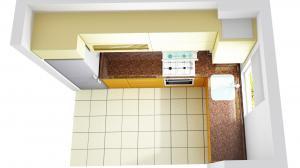 Proiect bucătărie mică la comandă Norvinia nr.584
