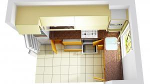 Proiect bucătărie mică la comandă Norvinia nr.585