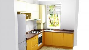 Proiect bucătărie mică la comandă Norvinia nr.583